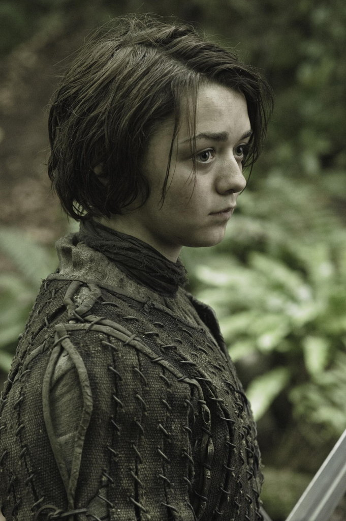 Arya (Maisie Williams) is still posing as a boy.
