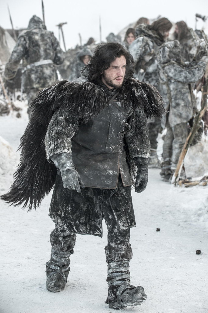 Jon Snow (Kit Harington) marches with the wildlings.