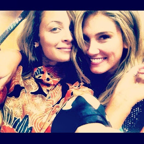 Nicole Richie and Delta Goodrem caught up in LA. Source: Instagram user nicolerichie