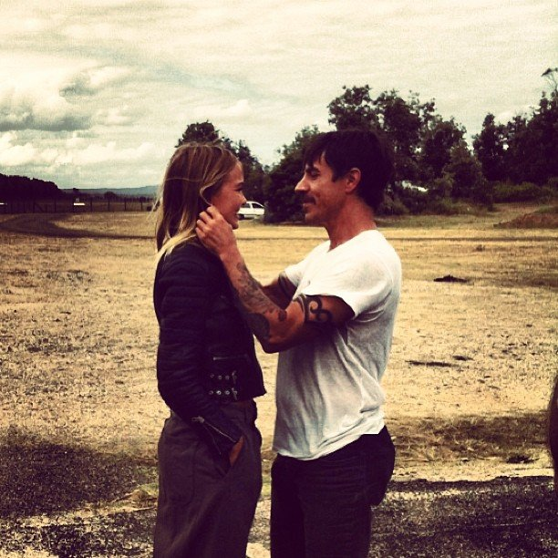 Lara Bingle took a road trip with Red Hot Chili Peppers' Anthony Kiedis. Source: Instagram user mslbingle