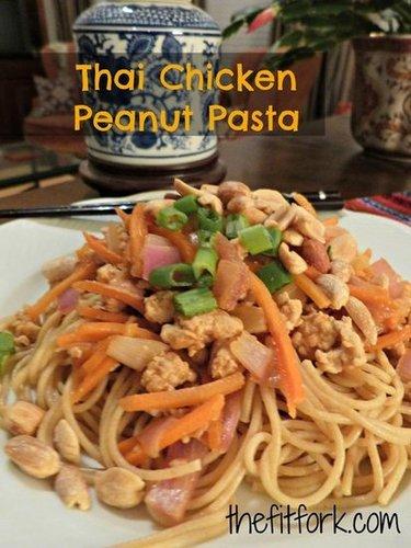 Thai Chicken Peanut Pasta Recipe