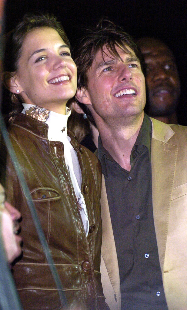 Then-couple Katie Holmes and Tom Cruise were at t