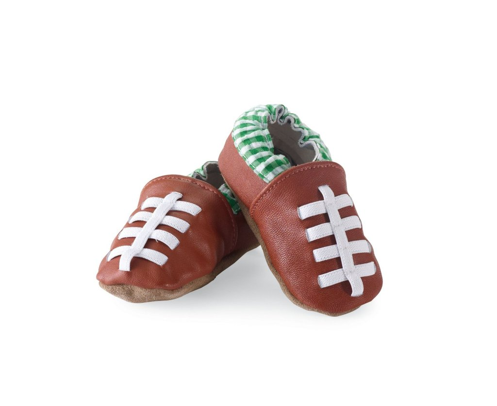 Mud Pie Football Baby Shoes