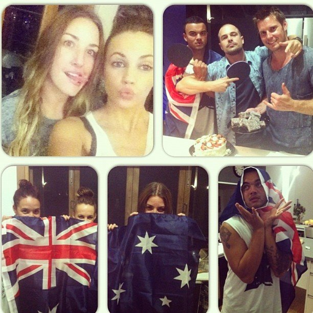 Samantha Jade ate lamingtons and pavlova with Guy and Jules Sebastian, and more friends. Source: Instagram user samantha_jade_music