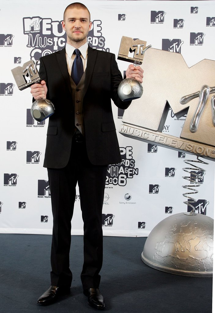 Justin stayed dapper in the press room at the MTV Europe Music Awards in 2006.