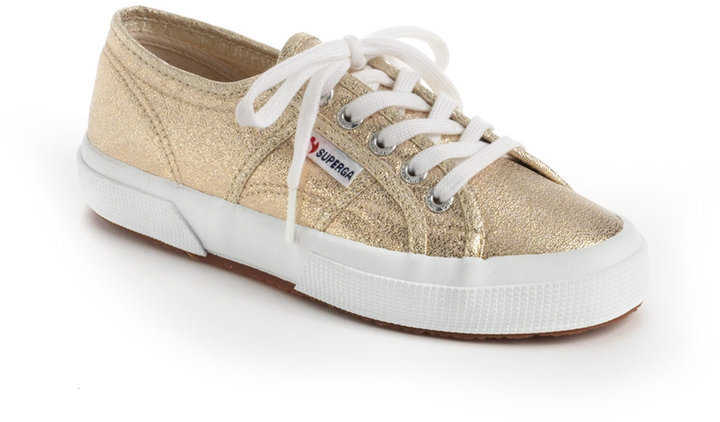 No matter which team you're rooting for, you'll pass for a fan with Superga's Gold Lamé Sneakers ($75).