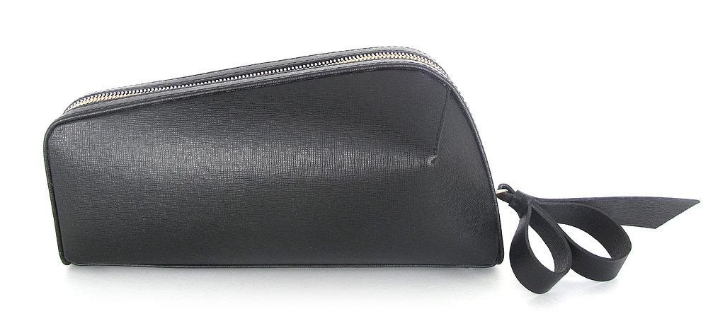 Jerome C. Rousseau Black Leather Rox Clutch ($795)