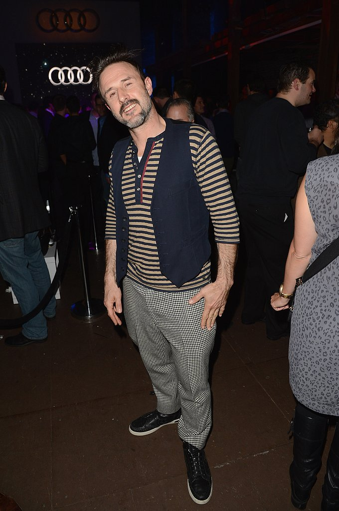 David Arquette posed stag at the Audi Celebrate the Super Bowl cocktail party on Friday night in New Orleans.