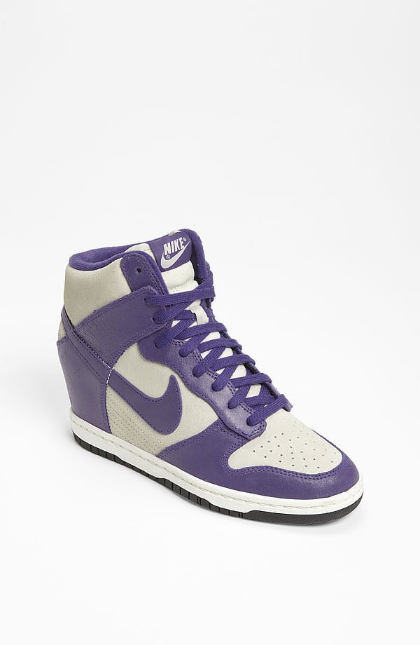 """Channel old-school court style with these Nike """"Dunk Sky Hi"""" Wedge Sneakers ($120)."""
