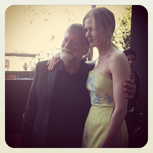 Two Aussie icons, one photo. We were pretty happy to snap Jack Thompson with Nicole Kidman at the AACTAs.