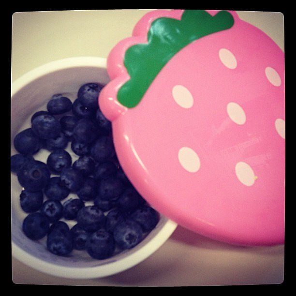 Sometimes we need a little pep up after a long day in the office (how is it only middy?) and Marisa's came in the form of this cute box of blueberries.