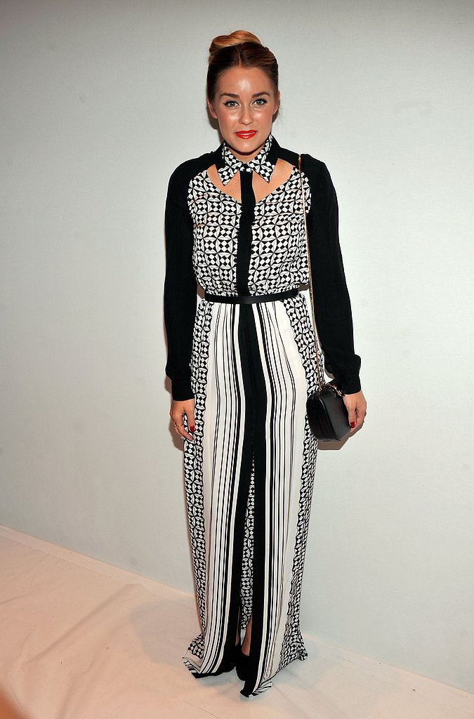 Lauren worked the monochrome trend for the Rebecca Minkoff S/S 2013  fashion week show in NY in September, 2013.