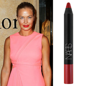 Lara Bingle's Red Lipstick and Makeup at Dior Opening