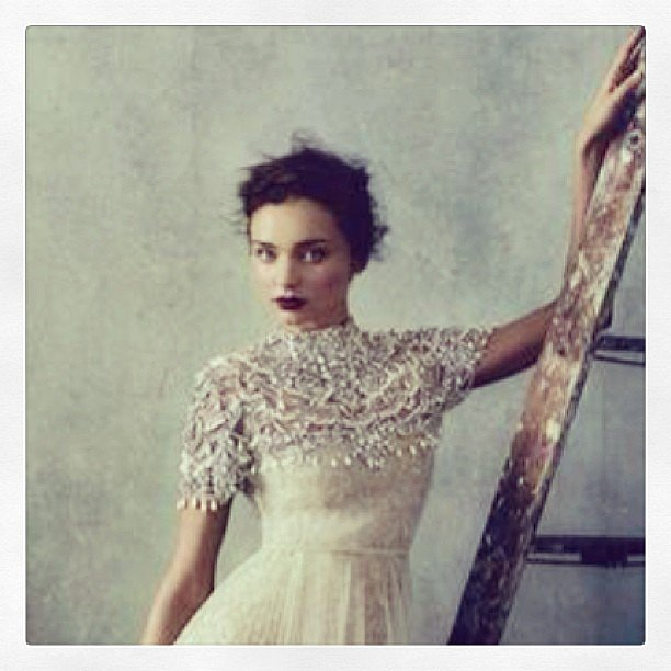 Miranda Kerr goes Victorian-era goth — and looks incredible, of course. Source: Instagram user mirandakerrverified