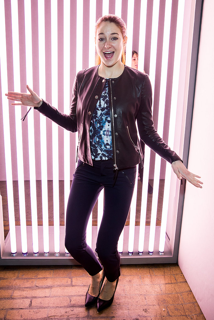 Shailene Woodley got goofy backstage at Rebecca Taylor in NYC in February.