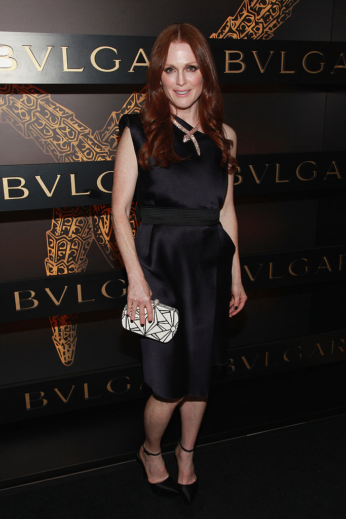 Julianne Moore attended Bulgari's event in NYC during Fashion Week in February.