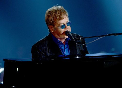 Elton John performed during the show.