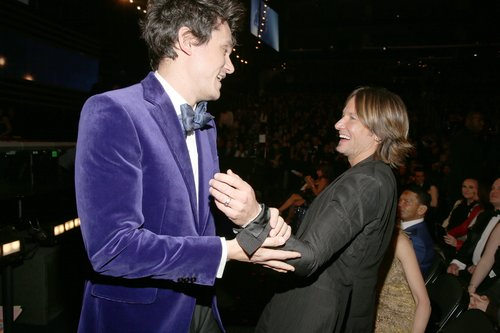 John Mayer joked around with Keith Urban.