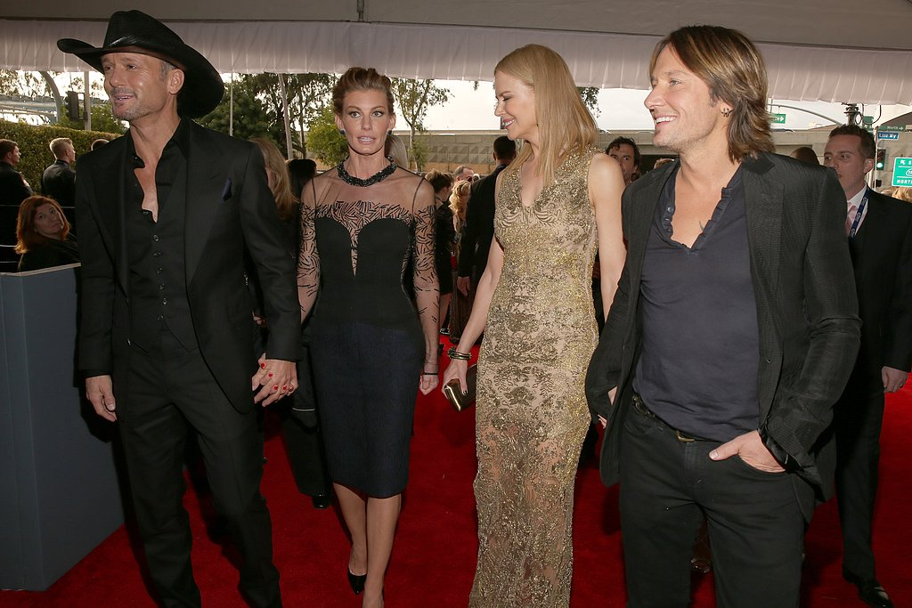 Country couple Tim McGraw and Faith Hill walked the red carpet with Nicole Kidman and Keith Urban at the 2013 Grammys.