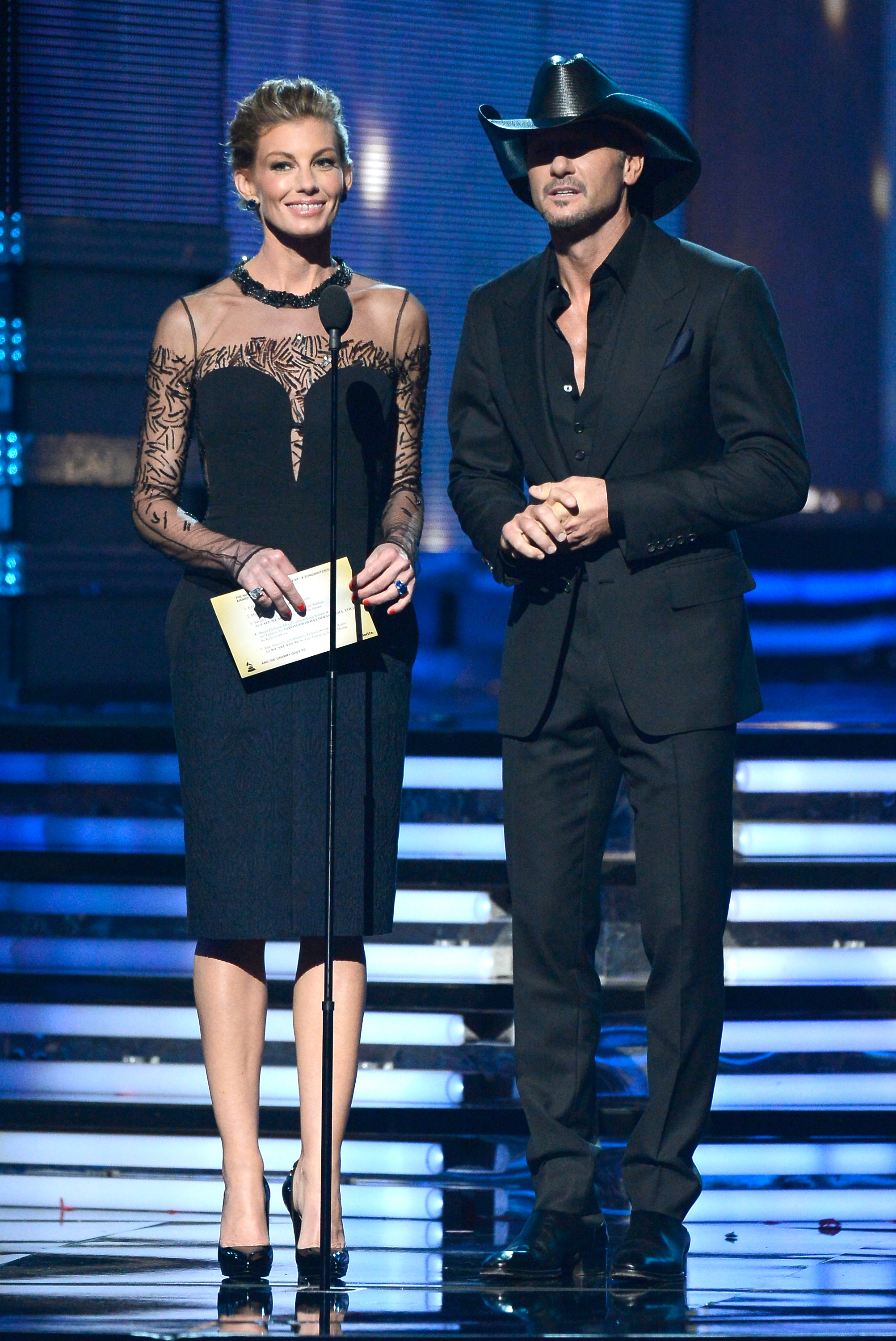Faith Hill and Tim McGraw presented together at the 2013 Grammys.