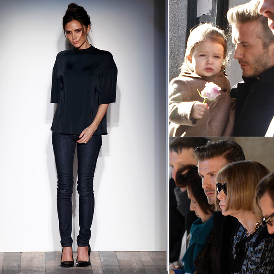Victoria Beckham Sticks to Her Stylish NYFW Tradition With David