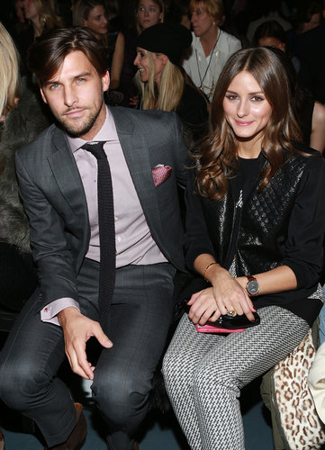 Olivia Palermo and her boyfriend, Johannes Huebl, sat front row for Tibi in NYC for Fashion Week in February.