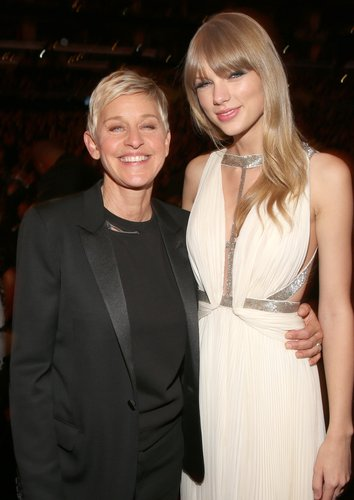 Ellen DeGeneres posed with Taylor Swift at the Grammys.