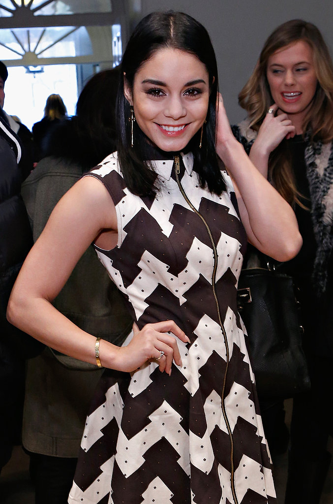 Vanessa Hudgens wore a bold look to the Opening Ceremony show of New York Fashion Week in February.