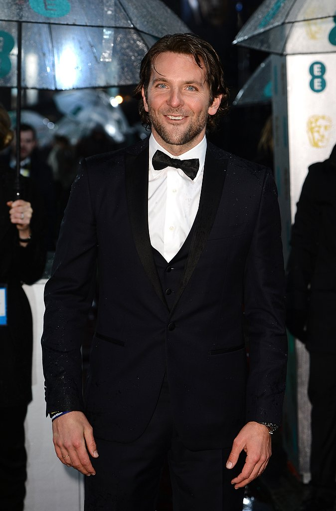Bradley Cooper wore a tux for the BAFTA Awards.