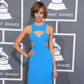 Pictures of Karlie Kloss in Michael Kors at the 2013 Grammys
