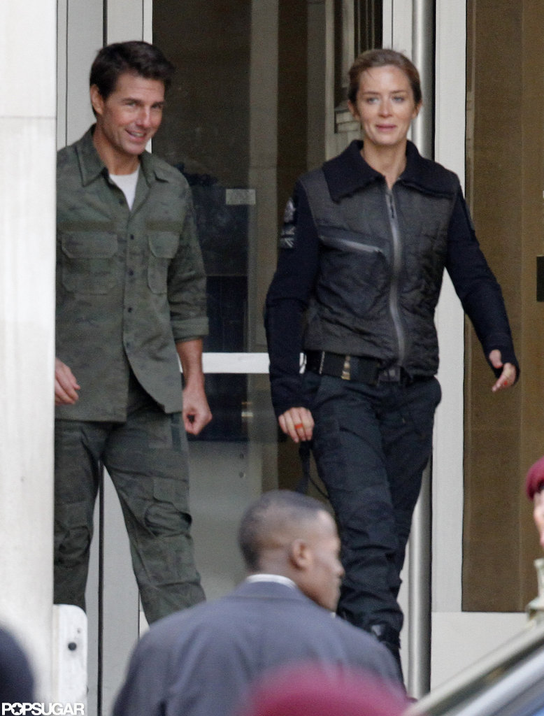 Tom Cruise and Emily Blunt Get Friendly — and Down to Business — on Set