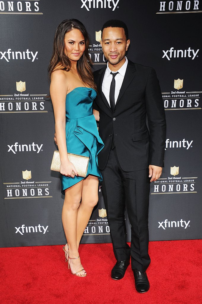John Legend and Chrissy Teigen were hand in hand at the Annual NFL Honors ceremony Saturday night.