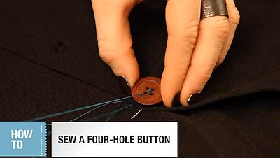 The Best Way to Sew on a Button (VIDEO)