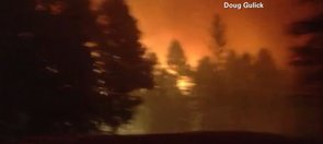 Dad Drives Through Fire to Save Family (VIDEO)