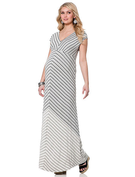 A maxi dress can be the expectant mama's best friend, and Jessica Simpson's  Short Sleeve Lightweight Maternity Maxi Dress ($69) is styled to flatter moms of all shapes and sizes.