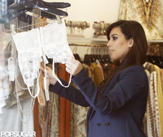 Kim Kardashian shopped for lingerie in LA.