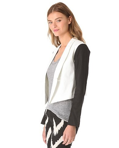 BB Dakota's Alton cropped jacket ($98) is a chic take on black and white.