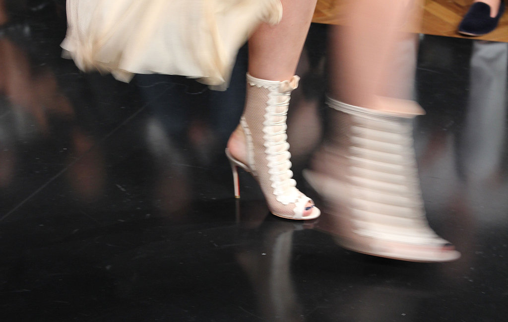These cut-out ankle booties were a head-turner.