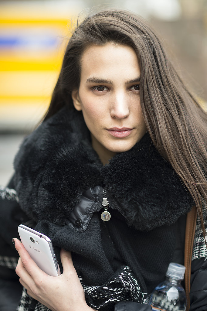 Deep side part, bold brows, and flushed cheeks: Mijo has been reading her trend reports. Source: Le 21ème | Adam Katz Sinding