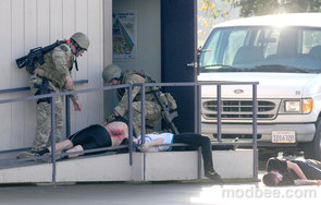 California High School Stages an Attack Drill