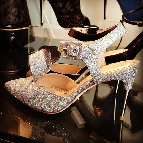 The sparkling footwear from Jerome Rousseau.