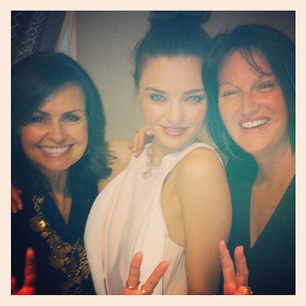 Media identity Lisa Wilkinson hung out with Miranda Kerr and her mum at the end of the David Jones A/W '13 Fashion Launch on Wednesday. Source: Instagram user mirandakerrverified