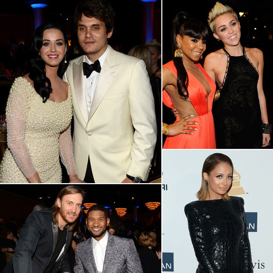 Katy Perry and John Mayer Party With Miley Cyrus, Nicole Richie, and More at Clive Davis's Grammys Bash