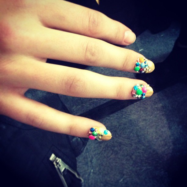 Talk about a 3D manicure. We're loving this colourful look from Libertine.