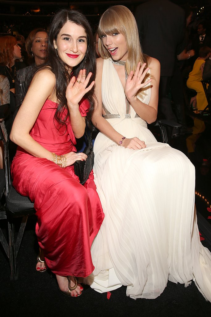 Taylor Swift and her friend Claire Waterman waved to the cameras.