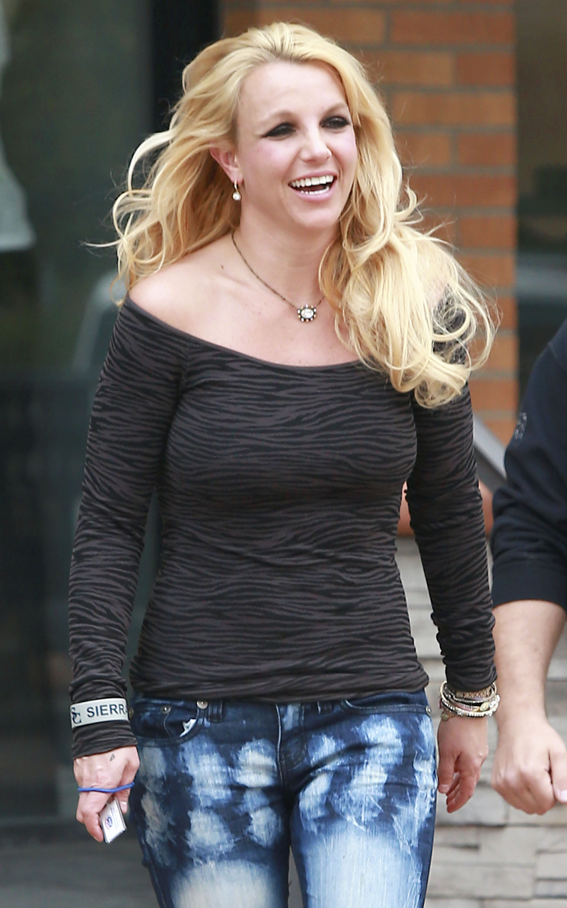 Britney Spears was all smiles in Westlake, CA.
