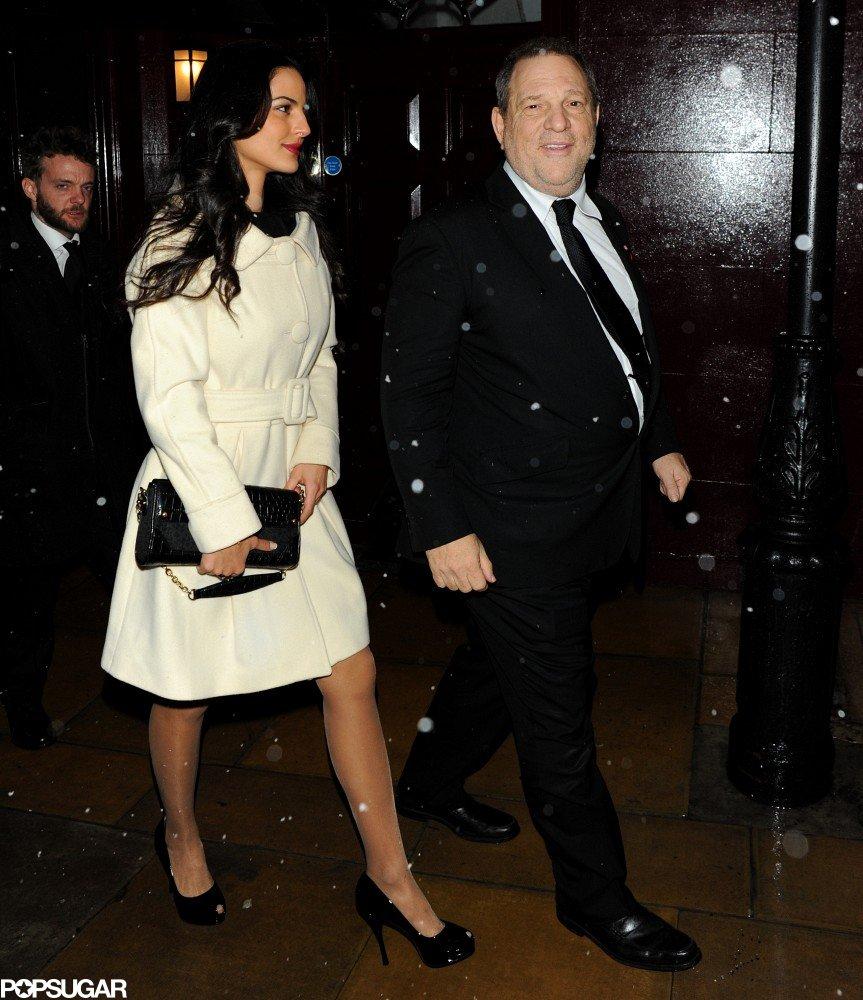 Harvey Weinstein left a BAFTA Awards afterparty in London.