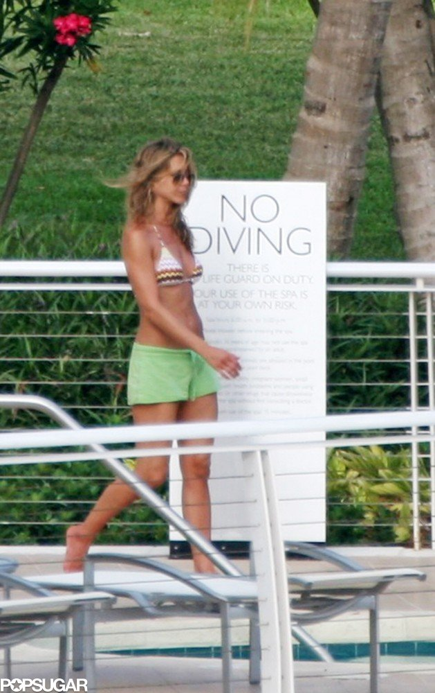 She relaxed by the pool at the Mondrian in Miami in May 2008.