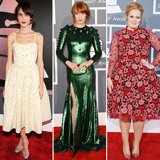 Alexa Chung, Florence Welch | Grammys 2013 Hair and Makeup