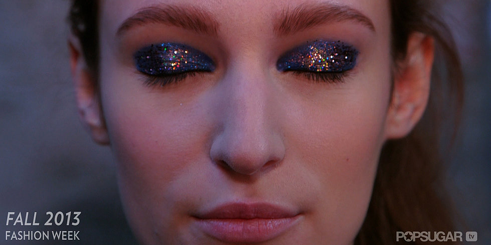 2013 Fall NYFW: Gilded Eyes and Graphic Hair Backstage at Thakoon